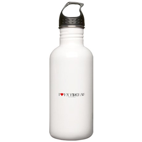 FIREMAN1A_BLK1 Stainless Water Bottle 1.0L