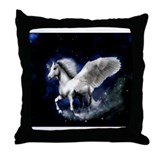 Unique Winged horses Throw Pillow