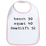 'Baby Powerlifter' Bib