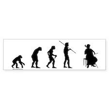 Cello Evolution Bumper Sticker