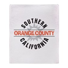 Orange County California Throw Blanket