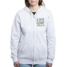 Live Love Armadillos Zip Hoodie