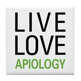Live Love Apiology Tile Coaster