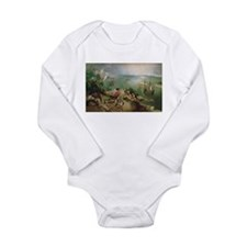 Cute Flemish Long Sleeve Infant Bodysuit