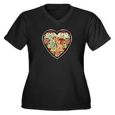 To My Love Women's Plus Size V-Neck Dark T-Shirt