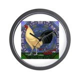 Cream Buttercup Rooster Wall Clock