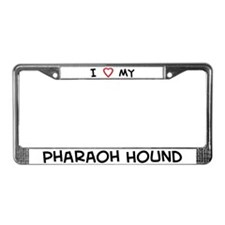 I Love Pharaoh Hound License Plate Frame