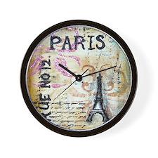 Shabby Chic Paris Wall Clock