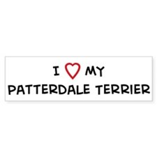 I Love Patterdale Terrier Bumper Bumper Sticker