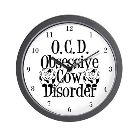 Obsessive Cow Disorder Wall Clock