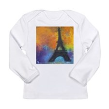 Abstract Eiffel Tower Long Sleeve Infant T-Shirt