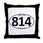 Erie, PA 814 Throw Pillow
