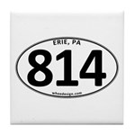 Erie, PA 814 Tile Coaster