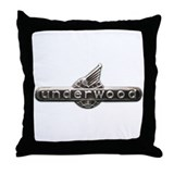 Underwood typewriter logo Throw Pillow