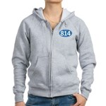 Blue Erie, PA 814 Women's Zip Hoodie
