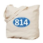 Blue Erie, PA 814 Tote Bag