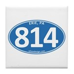 Blue Erie, PA 814 Tile Coaster
