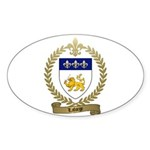 LAFORGE Family Crest Sticker (Oval 10 pk)