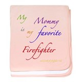 Mommy Firefighter baby blanket
