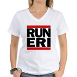 RUN ERI Women's V-Neck T-Shirt