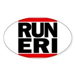 RUN ERI Sticker (Oval)
