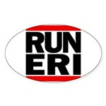 RUN ERI Sticker (Oval 50 pk)