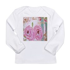 Shabby Chic Roses Long Sleeve Infant T-Shirt