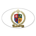 LAVIGNE Family Crest Sticker (Oval 10 pk)