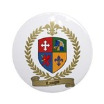LAVIGNE Family Crest Ornament (Round)