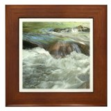 Mountain Stream Framed Tile