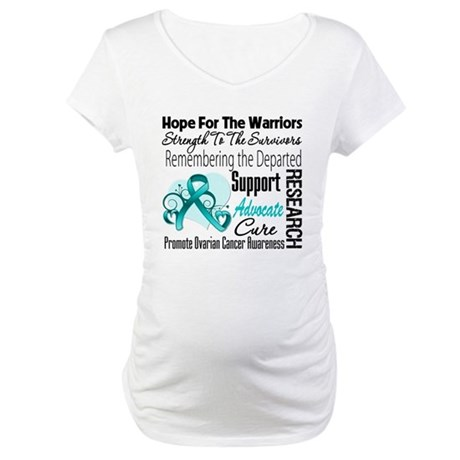 Hope Tribute Ovarian Cancer Maternity T-Shirt