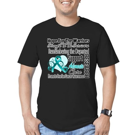 Hope Tribute Ovarian Cancer Men's Fitted T-Shirt (
