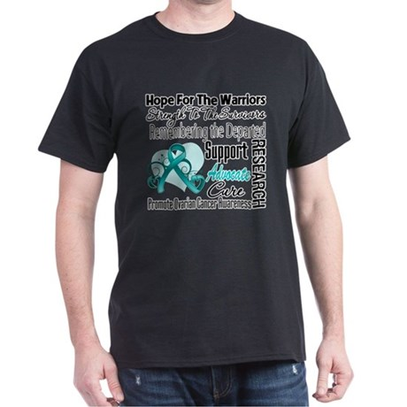 Hope Tribute Ovarian Cancer Dark T-Shirt