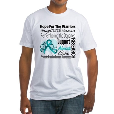 Hope Tribute Ovarian Cancer Fitted T-Shirt