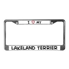 I Love Lakeland Terrier License Plate Frame