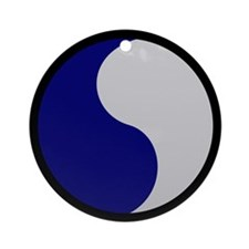 Blue and Gray Ornament (Round)
