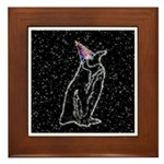 Party Penguin Framed Tile