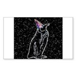 Party Penguin Rectangle Sticker