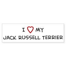 I Love Jack Russell Terrier Bumper Bumper Sticker