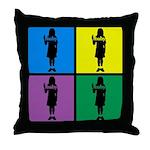 Color Peace Baby Girl Gear Throw Pillow