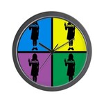 Color Peace Baby Girl Gear Wall Clock