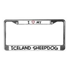 I Love Iceland Sheepdog License Plate Frame