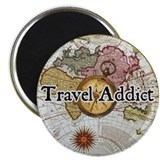 """Travel Addict"" Magnet"