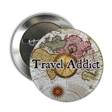 """Travel Addict"" Button"