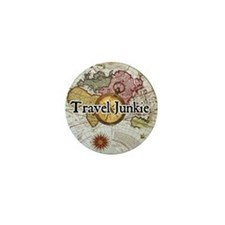 """Travel Junkie"" Mini Button"