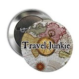 """Travel Junkie"" Button"