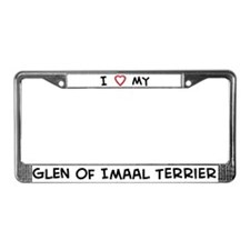 I Love Glen of Imaal Terrier License Plate Frame