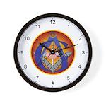 Masonic Intertwined Wall Clock