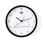 Masonic Friend To Friend Wall Clock