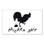 Chicken Shit Sticker (Rectangle 50 pk)